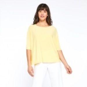 Sympli yellow lemon 3/4 sleeve shirt 6